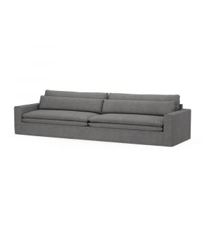 Continental Sofa XL, Oxford Weave, Charcoal
