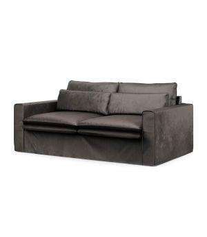 Continental Sofa 2,5s, Velvet, GrGrey