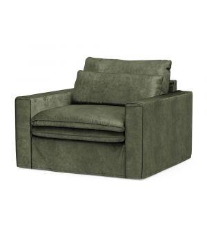 Continental Love Seat, Velvet, Ivy