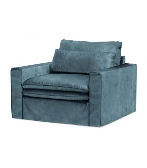 Continental Love Seat, Velvet, Petrol