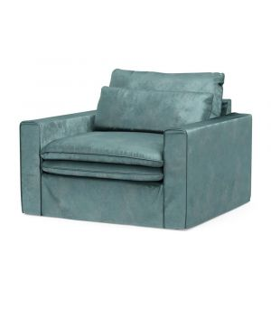 Continental Love Seat, Velvet, MinBlue