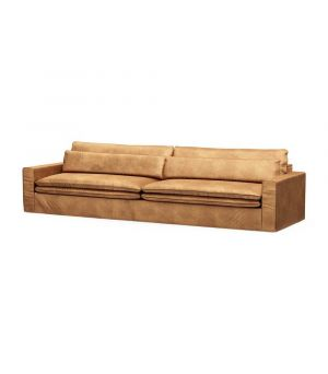 Continental Sofa XL, Velvet, Cognac
