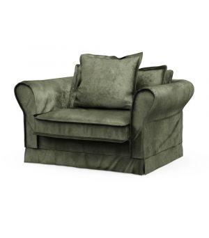 Carlton Love Seat, Velvet, Ivy