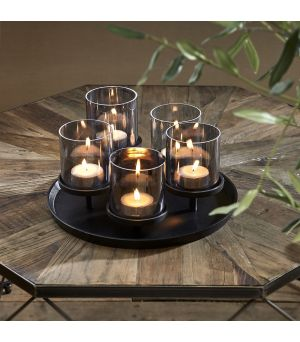 Svietnik Porto Candles black