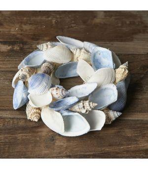 Veniec Blue Sea Shell Wreath ∅15cm