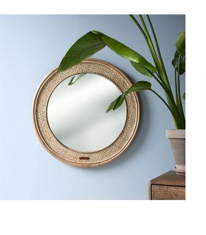 Zrkadlo Natural Weave rnd ∅68cm