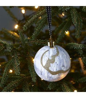 Vianočná guľa Pretty Marble grey Dia 8