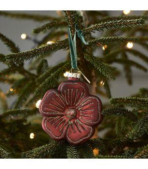Vianočná guľa Christmas Flower  red