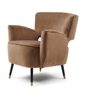 Laurel Armchair, Velvet, Golden Mink