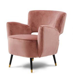 Laurel Armchair, Velvet, Rose