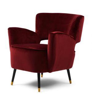 Laurel Armchair, Velvet, Burgundy