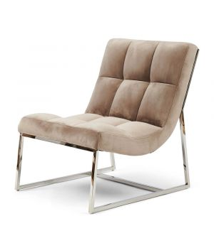 Kreslo Thompson Place Chair, Velvet, Gl Mink