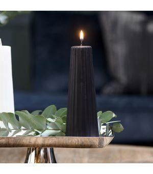 Sviečka Cone Ridged black 7x20