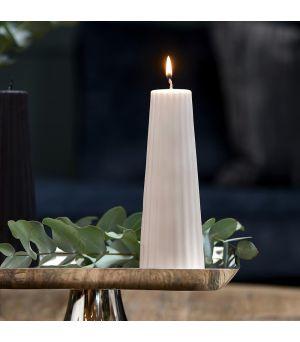 Sviečka Cone Ridged Candle rose 7x20