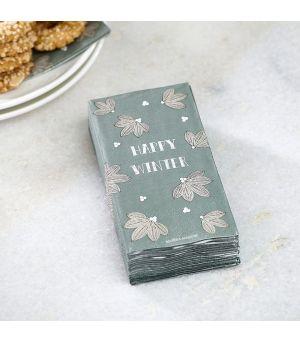 Papierové obrúsky Happy Winter