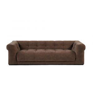 Cobble Hill Sofa 3.5 Seater, Velvet, Taupe