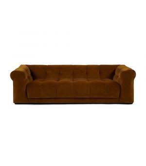 Cobble Hill Sofa 3.5 Seater, Velvet, Brown