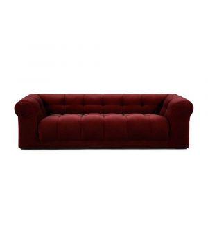 Cobble Hill Sofa 3.5 Seater, Velvet, Burgundy