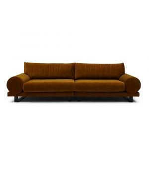Collins Sofa 3.5 Seater, Velvet, Brown