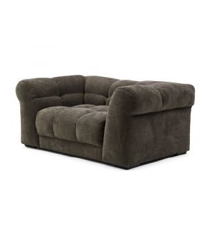 Cobble Hill Love Seat, Celtic Weave, Mud