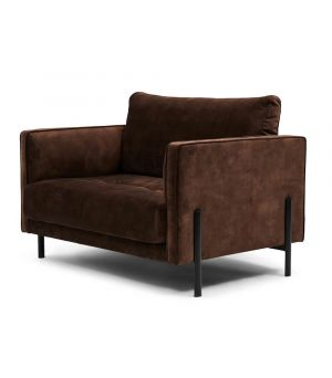 Bal Harbour Love Seat, Velvet, Chocolate