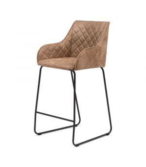 Nízká barová stolička Frisco Drive, Pellini, Camel