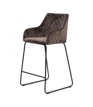 Nízka barová stolička Frisco Drive, Velvet, Anthracite