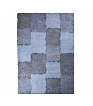Koberec Patchwork Mono 160 x 230 cm - modrý