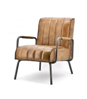 Armchair Marvin - cognac rosi leather
