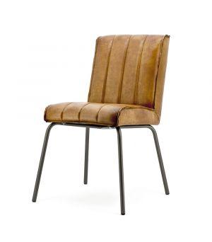 Jedálenská stolička Marvin - cognac rosi leather