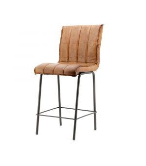 Nízká barová stolička Marvin, Cognac