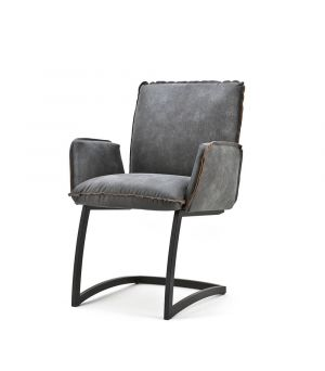 Chair Joel with arm. - Pasadena anthracite
