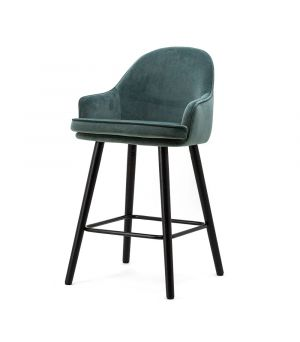 Nízká barová stolička Barbara, Blue Motown