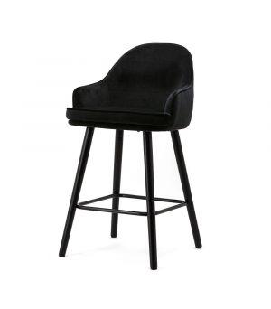 Nízká barová stolička Barbara, Black Motown