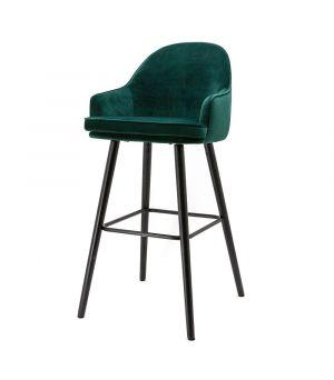 Nízká barová stolička Barbara, Green Motown