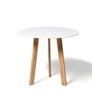 Postranný stolík Ile white Ø 60cm