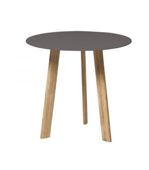 Postranný stolík Ille wengé Ø 50cm