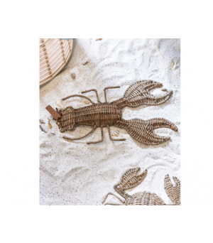 Dekorácia Rustic Rattan Lobster