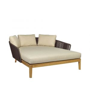 Záhradná posteľ Mood Wengé