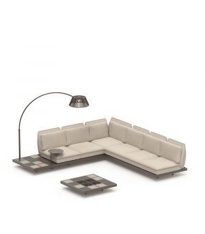 Mozaix sofa set 1 Aluminium