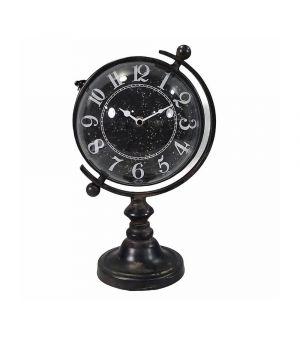 Black Iron Clock Globus