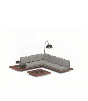 Mozaix sofa set 1 Mahogany