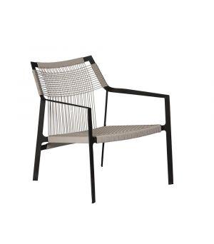 Easy chair Nodi wengé+linen